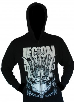 "Legion Of The Damned ""Widows Breed"" Zip Hoodie Größe XXL"