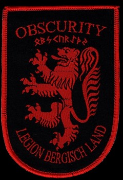 "Obscurity ""Wappen Rot"" Patch"