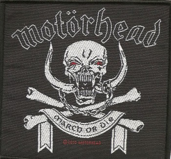 "Motörhead ""March Or Die"" Patch"