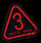 "Dritte Wahl ""Logo Rot"" Patch"