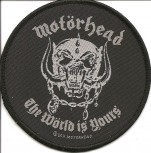 "Motörhead ""The World Is Yours"" Patch"